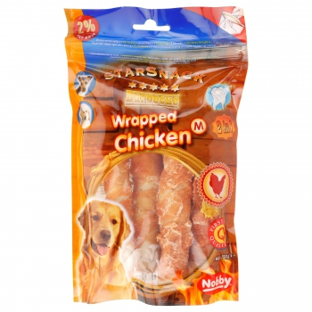 Nobby_70072_Wrapped_Chicken_M_Barbecue_150g_Zwärgehüsli-Shop